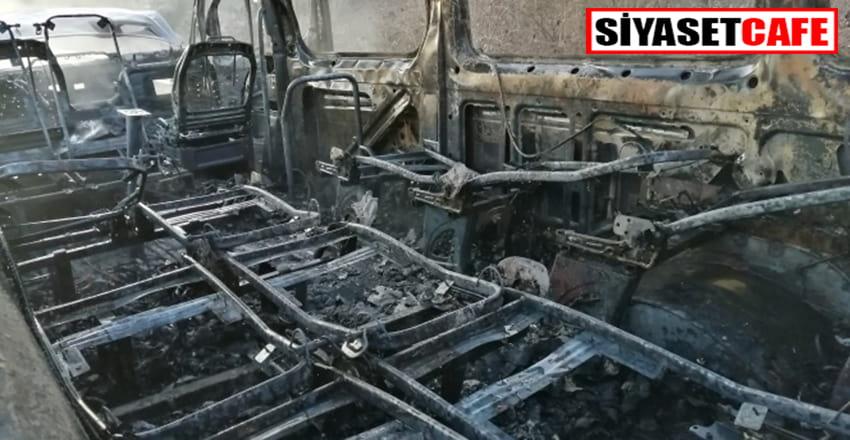 Düzce'de korkunç kaza:Yolcu minibüsü yandı!