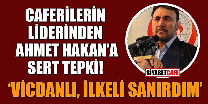 Caferileri Lideri Selahattin Özgündüz'den Ahmet Hakan'a sert tepki!