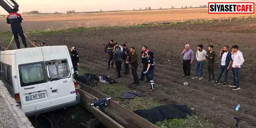 Adana'da tarım işçilerini taşıyan minibüs devrildi! Ölü ve yaralılar var...