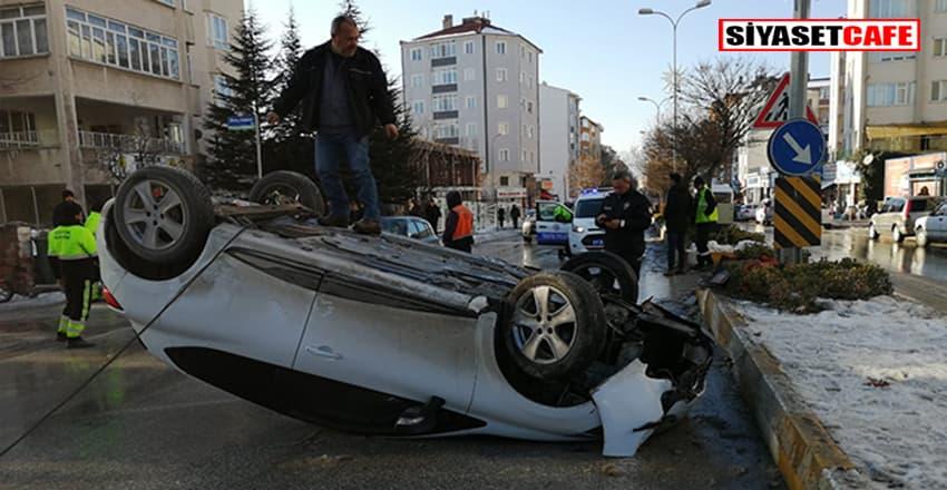 Bilecik'te feci kaza:Otomobil takla attı 2 yaralı