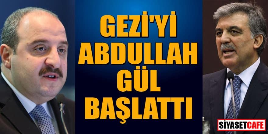 Bakan Varank'tan flaş iddia: Gezi'yi Abdullah Gül başlattı