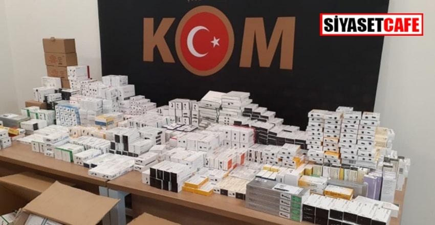 Terör örgütlerine gönderilecek 72 bin ilaç ele geçirildi!