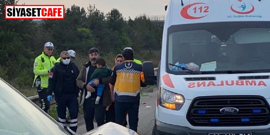 Tem Otoyolu'nda korkutan kaza: 3'ü çocuk 7 yaralı