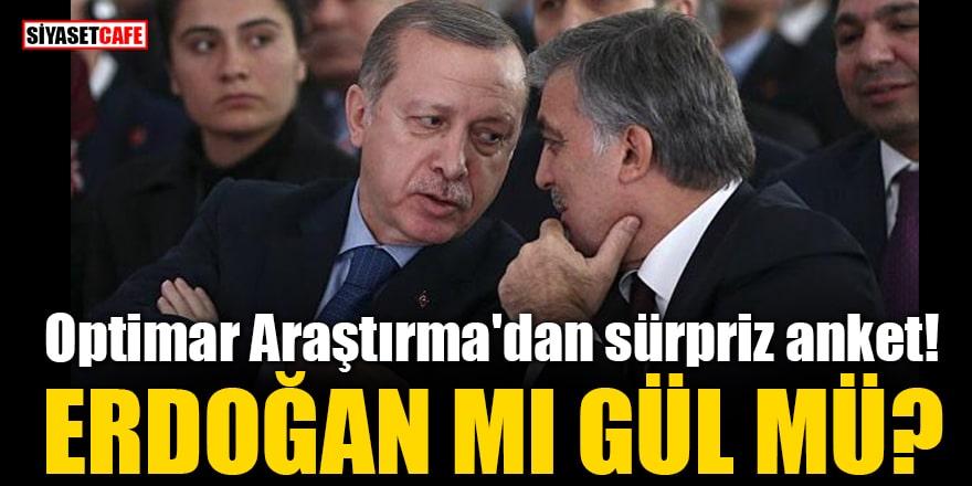 Optimar Araştırma'dan sürpriz anket! Erdoğan mı Gül mü?