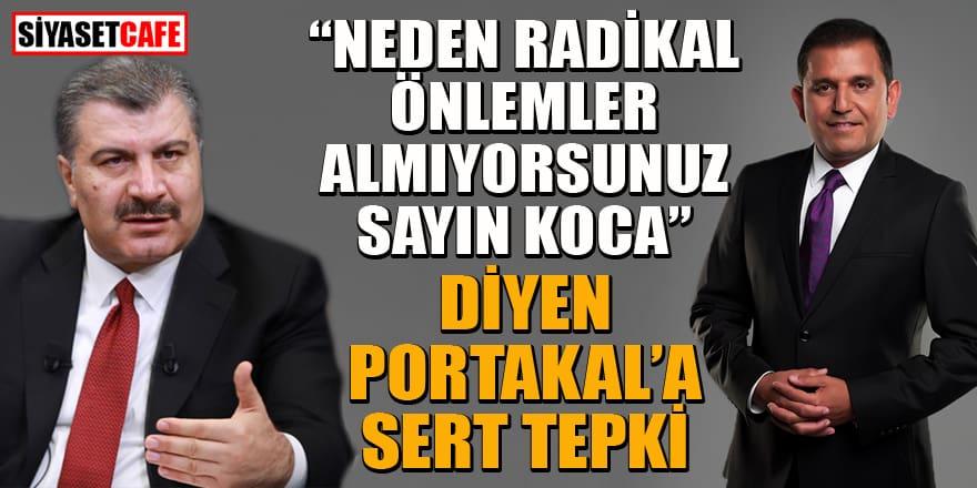 Sağlık Bakanı'nı eleştiren Fatih Portakal'a tepki yağdı!
