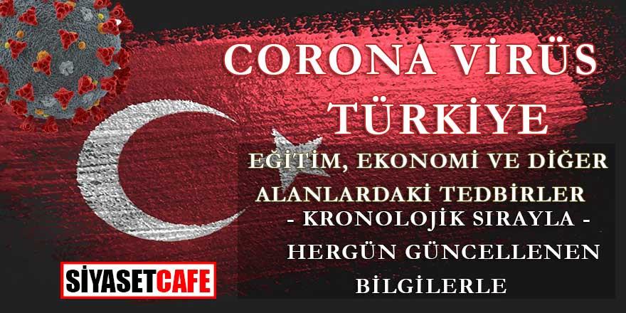 Corona Virüs Türkiye alınan tedbirler günlüğü, gün gün hangi tedbirler alındı