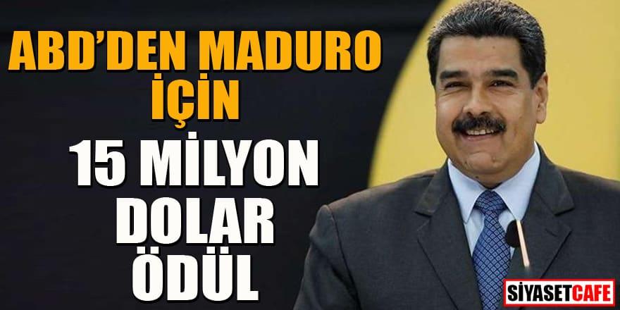 ABD'den Maduro'nun tutuklanması için 15 milyon dolar ödül