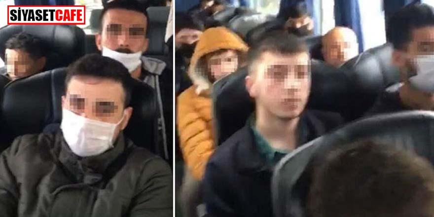 Otobüs yolculuğu yasağını delen 46 kişiye ceza kesildi! Karantinaya alındılar