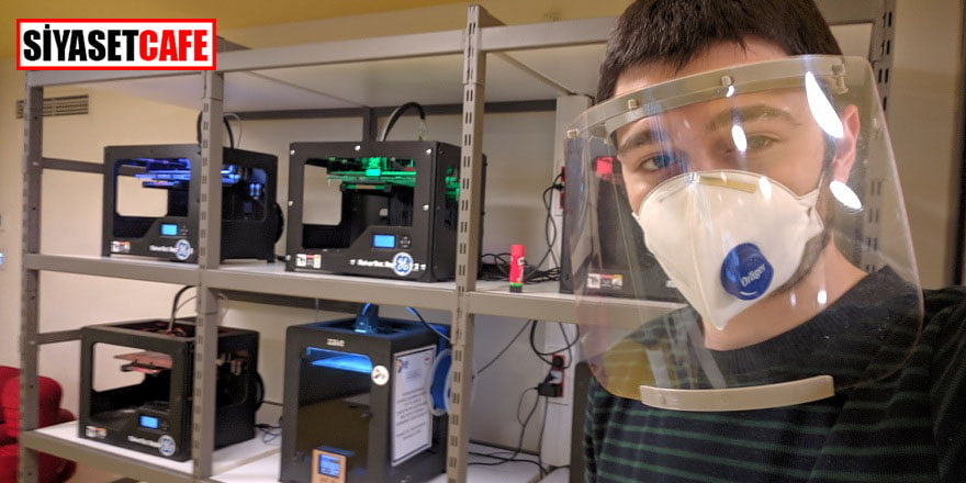 Genç mühendis siperli maske üretti