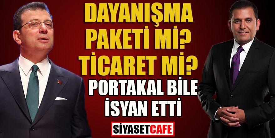 Ekrem İmamoğlu'nun dayanışma paketi fiyatına Portakal'dan eleştiri