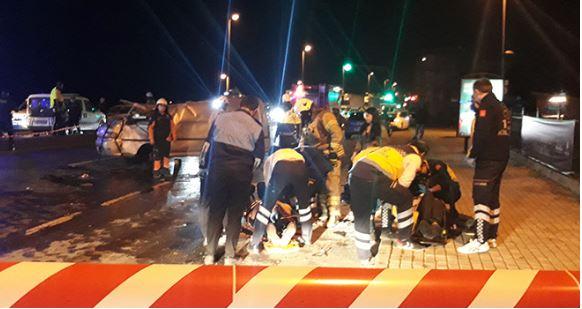 Fatih'te feci kaza: 1 ölü 3 yaralı