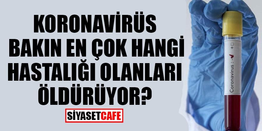 Koronavirüs bakın en çok hangi hastalığı olanları öldürüyor?