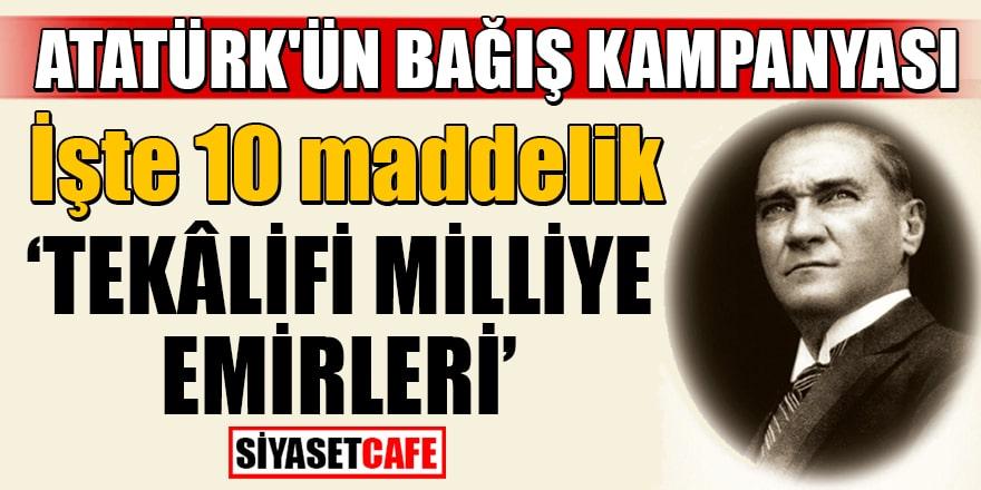 Atatürk'ün 'Tekâlifi Milliye Emirleri'