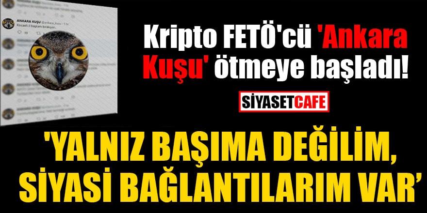 Kripto FETÖ'cü 'Ankara Kuşu' ötmeye başladı! 'Yalnız başıma değilim, siyasi bağlantılarım var'