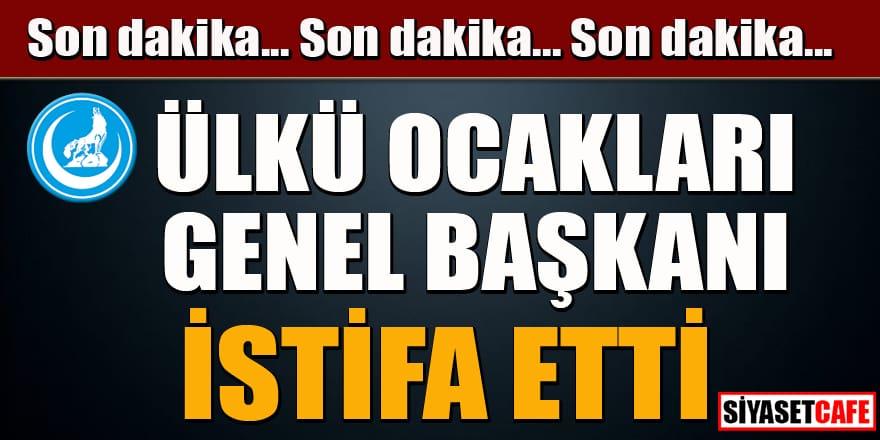 Son dakika... Ülkü Ocakları Genel Başkanı Sinan Ateş istifa etti!