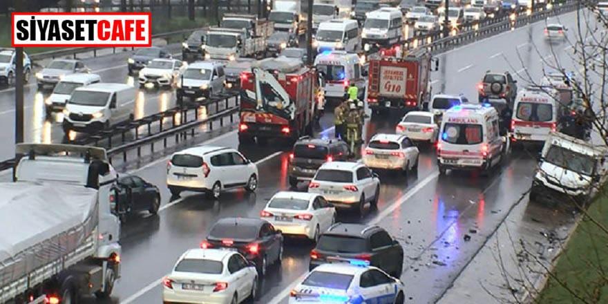 TEM'de yaralanmalı kaza