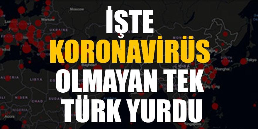 İşte koronavirüs olmayan tek Türk yurdu