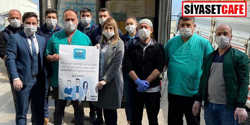 A101 marketleri hastanelere destek kampanyası başlattı