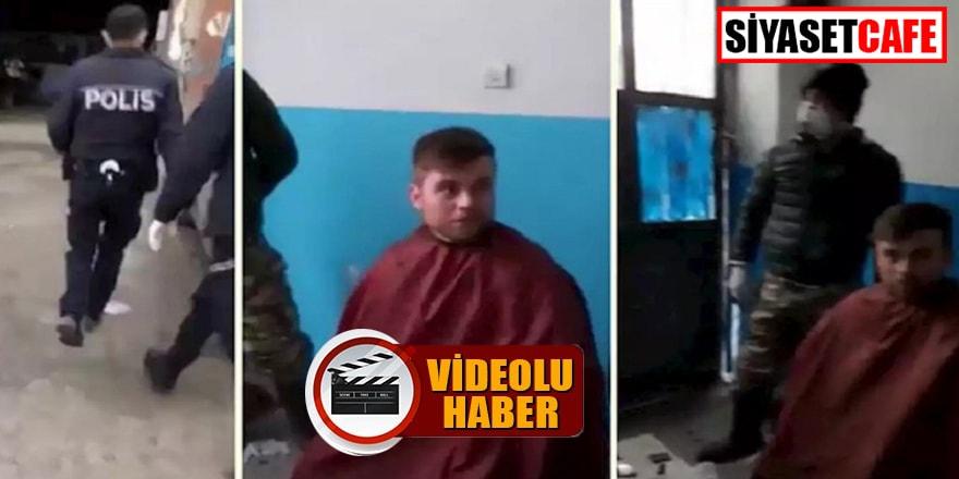 Kaçak saç tıraşı yapan berber yakalandı