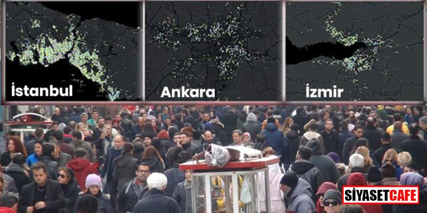 İşte koronavirüs salgınında İstanbul, Ankara ve İzmir'deki en riskli ilçeler