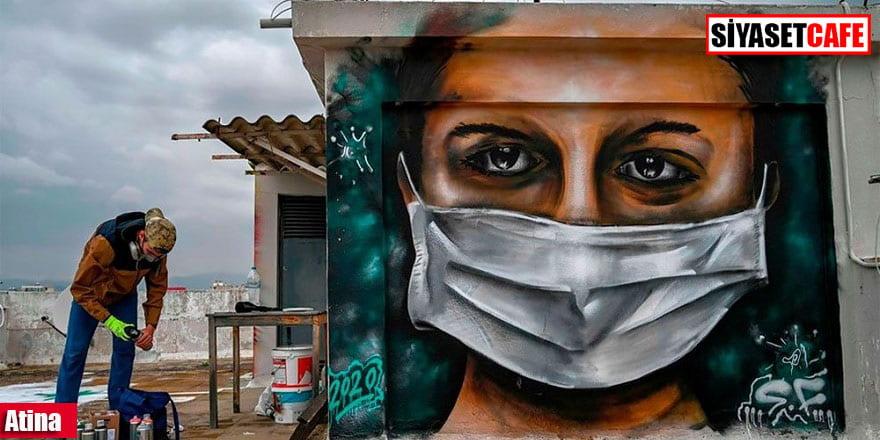 Sokak sanatçılarının yeni gündemi: Koronavirüs