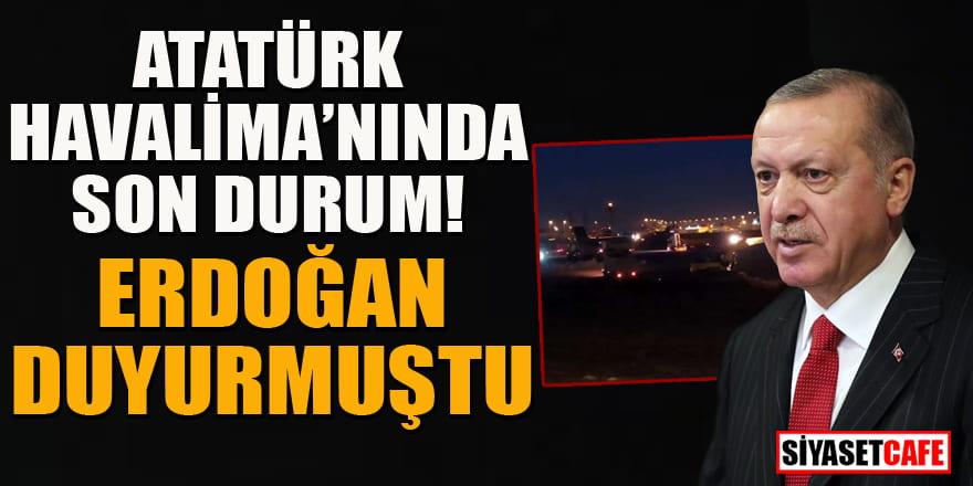 Erdoğan duyurmuştu! Atatürk Havalimanı'nda hastane çalışmaları hızlandı!