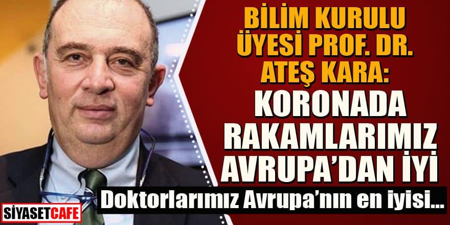 Prof. Dr. Ateş Kara'dan flaş korona açıklamaları: Doktorlarımız Avrupa'nın en iyisi...