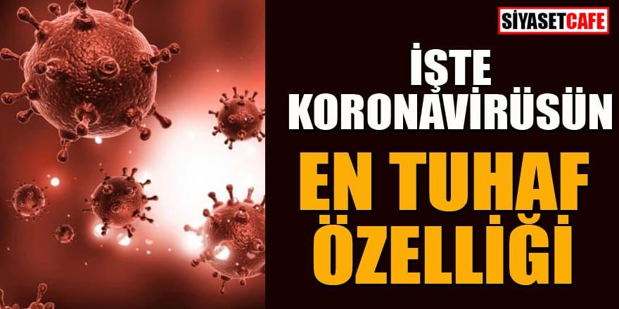 """Uzmanlar """"koronavirüsün en tuhaf özelliğini"""" açıkladı"""