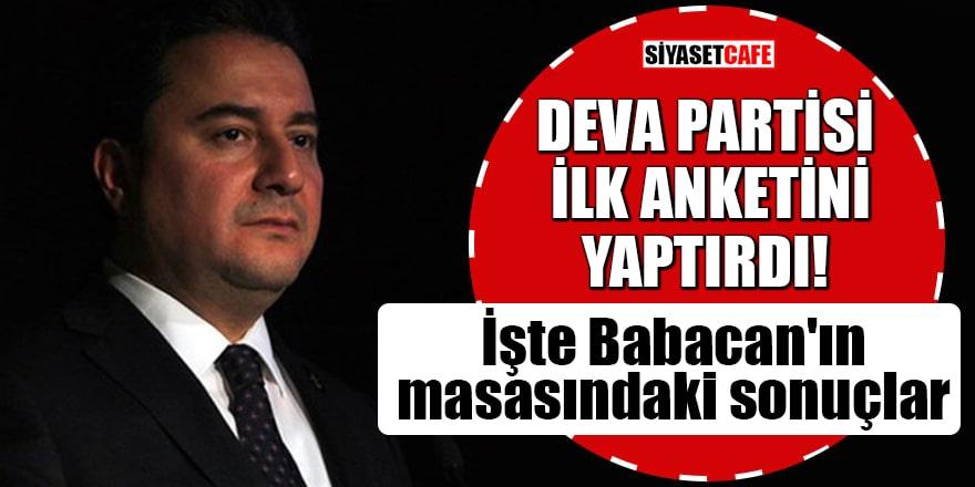 DEVA Partisi ilk anketini yaptırdı! İşte Babacan'ın masasındaki sonuçlar