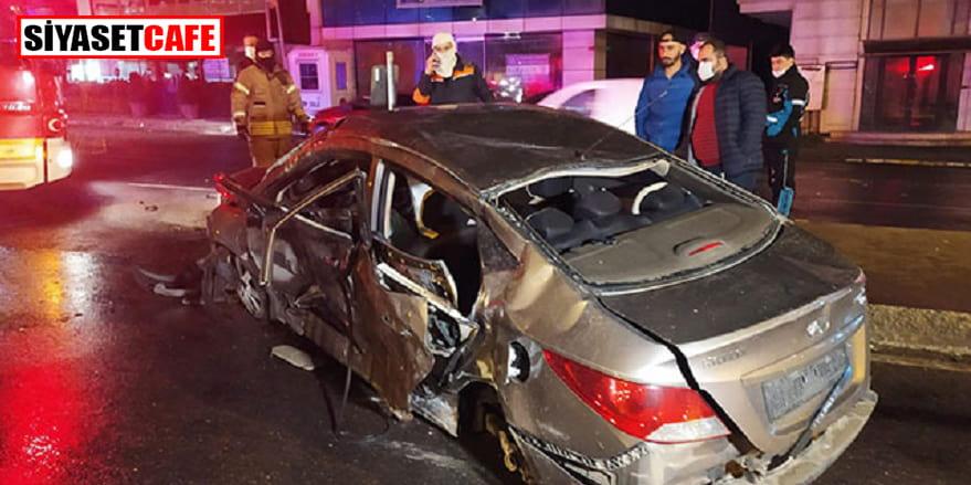Ümraniye'de kırmızı ışık kazası: 1 yaralı