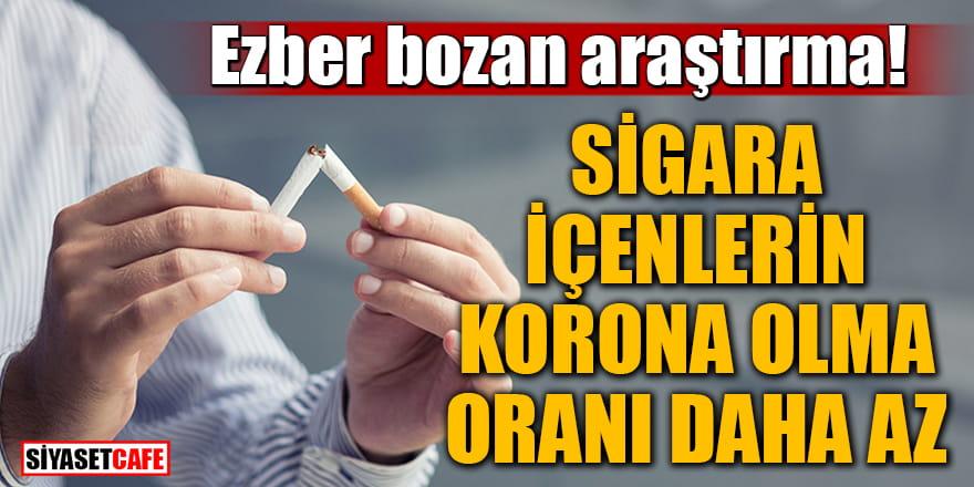 Ezber bozan araştırma: Sigara içenlerin korona olma oranı daha az