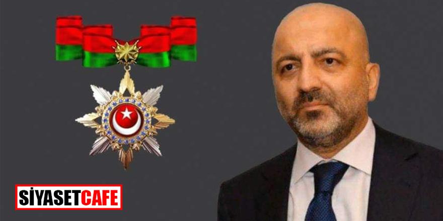 Azerbaycanlı iş adamı Mubariz Gurbanov'a Üstün Hizmet Nişanı verildi
