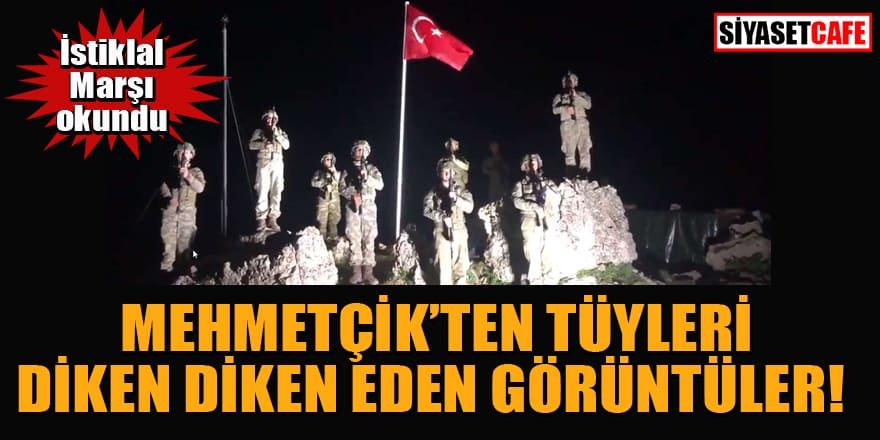 Görev yerlerinde İstiklal Marşı okuyan askerler tüyleri diken diken etti!