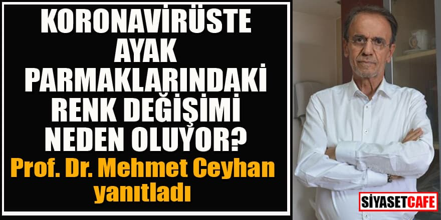 Prof. Dr. Ceyhan, koronada ayak parmaklarındaki renk değişiminin nedeni açıkladı