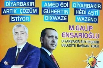 AKP'den  Kürtçe seçim pankartı