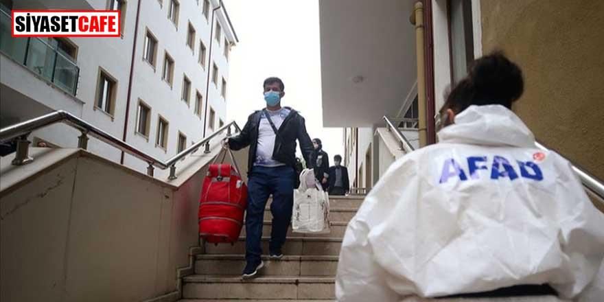Korona karantinasından kaç kişi tahliye edildi? AFAD açıkladı