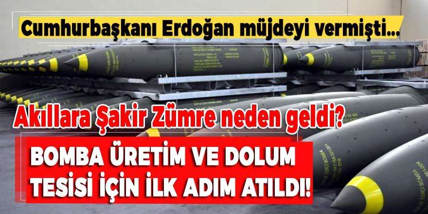 Cumhurbaşkanı Erdoğan müjdeyi vermişti: Bomba Üretim ve Dolum Tesisi açıldı, akıllara Şakir Zümre geldi