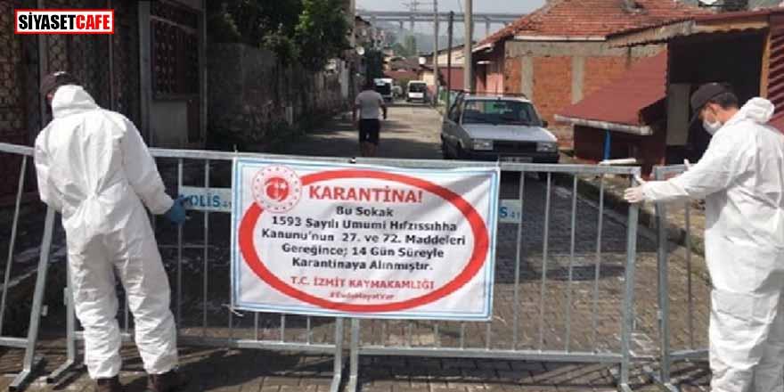 İzmit'te 2 sokağa korovirüs karantinası