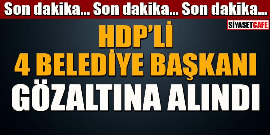 Terör soruşturması: HDP'li 4 belediye başkanı gözaltına alındı