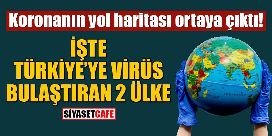 Koronanın yol haritası ortaya çıktı! İşte Türkiye'ye virüs bulaştıran 2 ülke