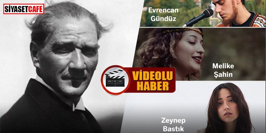 Genç ünlüler Atatürk şarkıları söyledi