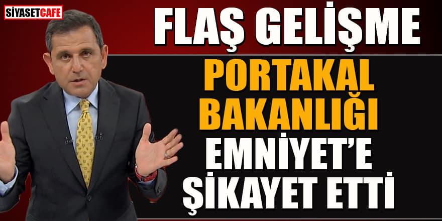 Flaş gelişme! Fatih Portakal, Bakanlığı Emniyet'e şikayet etti!