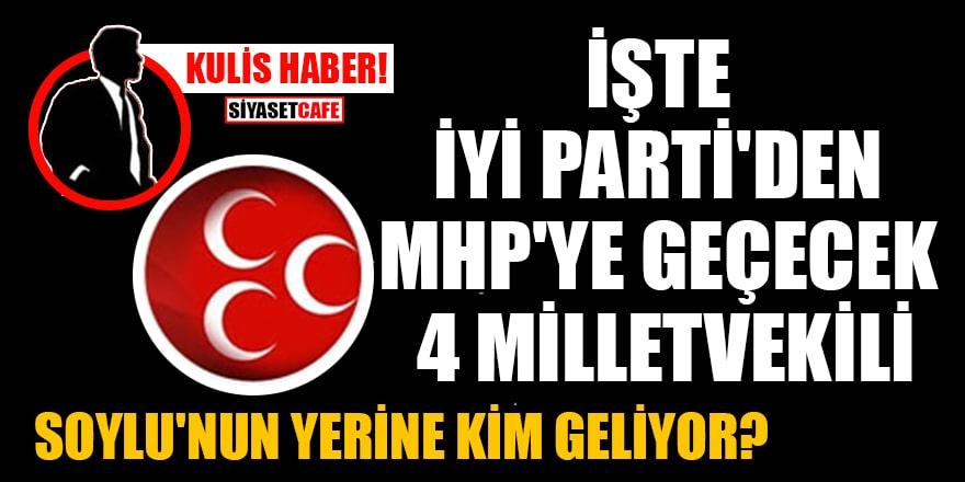 Kulis haber: 4 milletvekili İYİ Parti'den MHP'ye geçecek