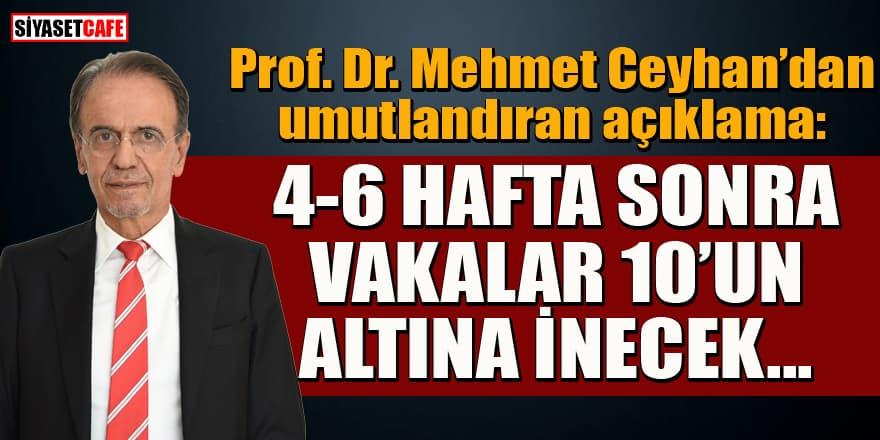Prof. Mehmet Ceyhan'dan umutlandıran tahmin: 4-6 hafta sonra vakalar 10'un altına inecek...