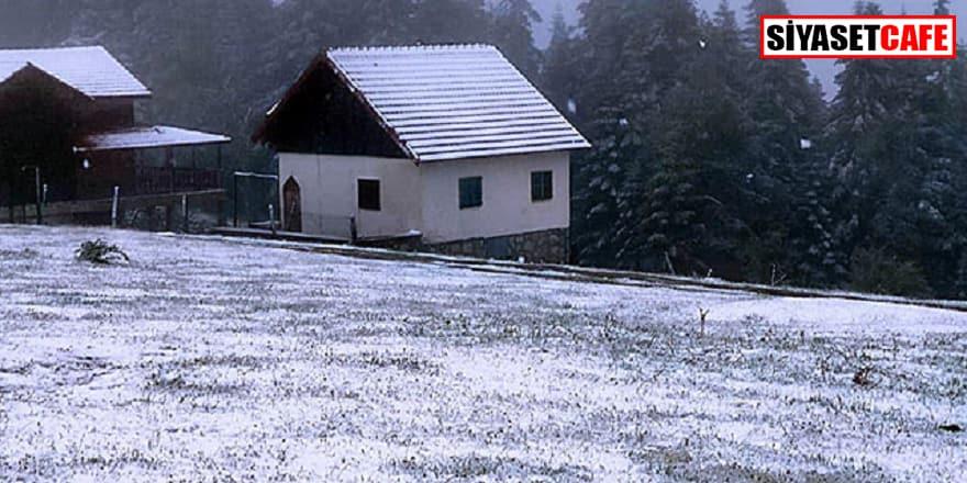Havalar çıldırdı, Düzce'ye kar yağdı!