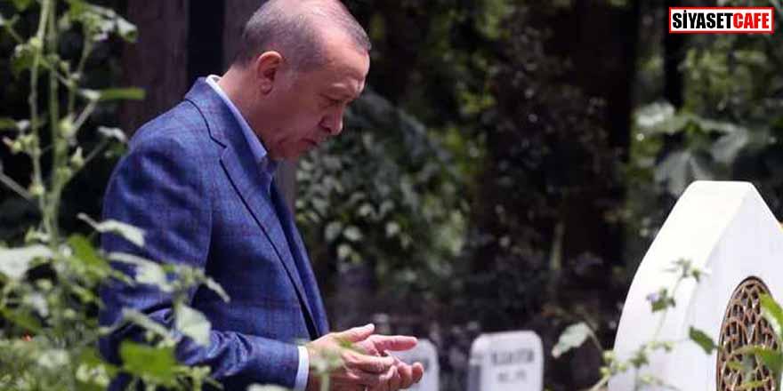 Erdoğan'dan anne ve babasına kabir ziyareti