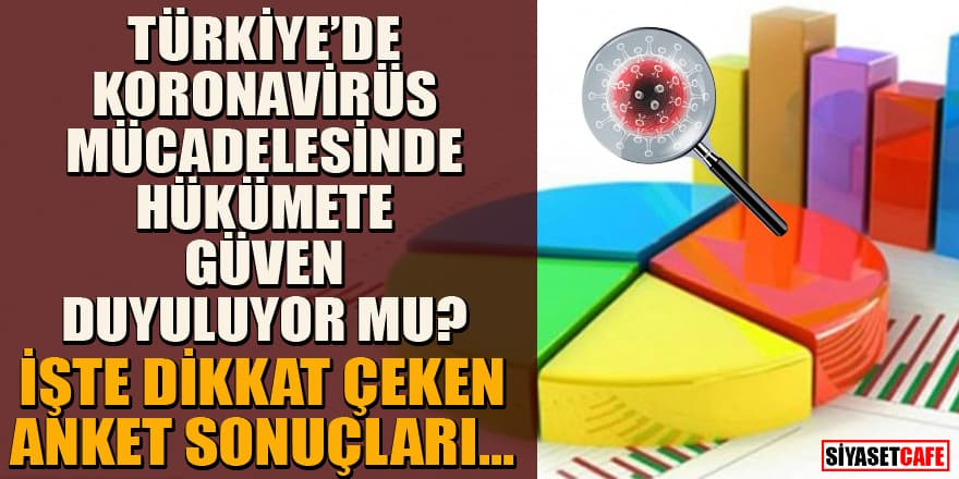 Son anket sonuçları yayınlandı! Koronavirüs mücadelesinde hükümete güven duyuluyor mu?