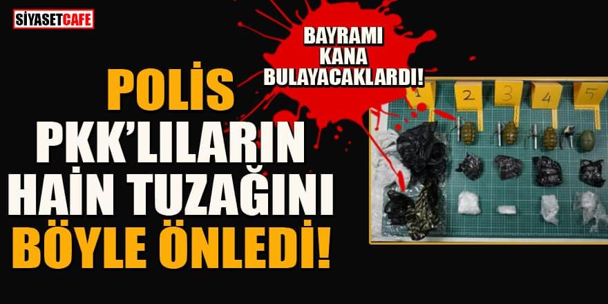 Polis, PKK'lı hainlerin bombalı saldırısını son anda önlendi