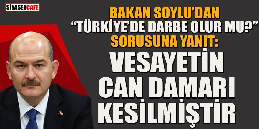 """Bakan Soylu'dan """"Türkiye'de darbe olur mu?"""" sorusuna cevap"""