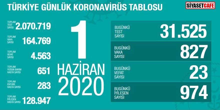 Bakan Koca koronavirüste 1 Haziran rakamlarını açıkladı